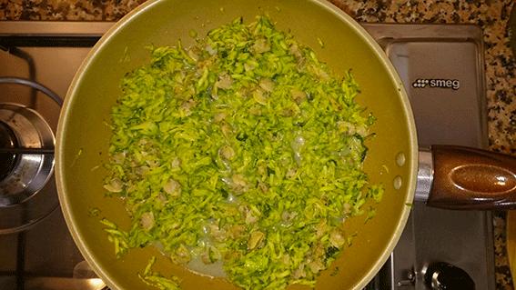 Il misto zucchine e vongole.