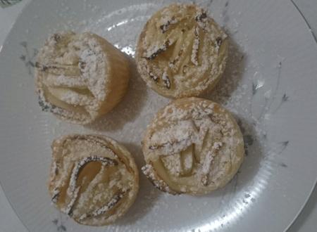 Rosetta di pasta sfoglia mele e mascarpone