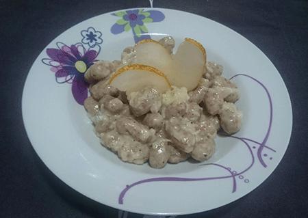 Gnocchi fatti in casa gorgonzola e pera