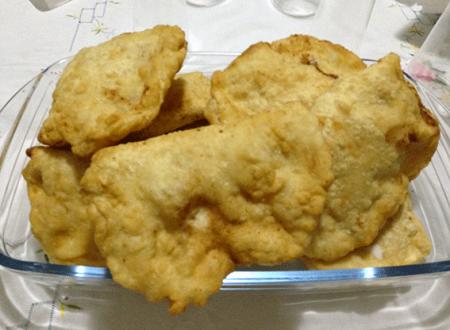 Il ripieno fritto con ricotta e mozzarella